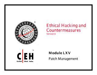 CEHv6 Module 65 Patch Management.pdf