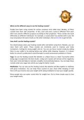 What Are The Different Ways To Use The Healing Crystals.pdf