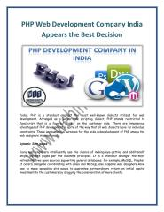 PHP Web Development Company India Appears the Best Decision - www.webinventiv.com.pdf