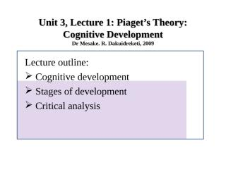 Lecture 5 on Piaget's theory.ppt