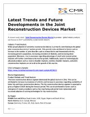 Latest Trends and Future Developments in the Joint Reconstruction Devices Market .pdf